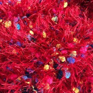 """Fuzzy Crochet Eyelash Scarf w/ Multicolor Yarn 65"""""""